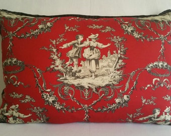Decorative Pillows:  Victorian Red