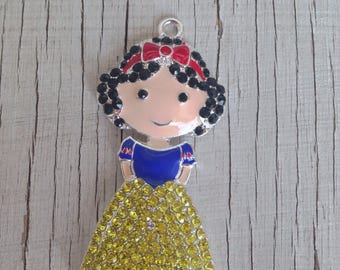Snow White inspired Rhinestone pendant for necklaces chunky necklace jewelry chunky gumball necklace wholesale supplies bubblegum charm