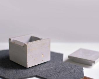 Concrete Trinket Box