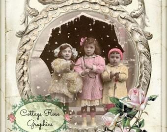 Winter Sweet Dreams Large digital download Printable ECS buy 3 get one free Pink Roses ECS SVFTEAM