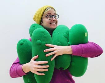 Pickle Plush - Giant Cucumber Pillow - Vegetable Pillow