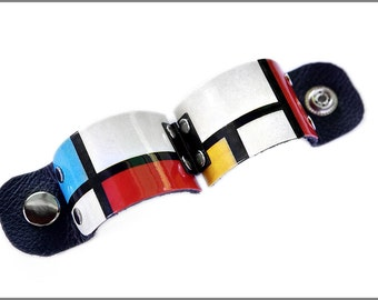 Piet Mondrian, Mondrian Art, Mondrian Cuff, Mondrian Jewelry, Primary Colors, Colorful Jewelry