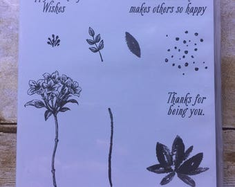 Avant Garden photopolymer stamp set from Stampin'Up!
