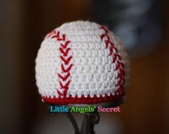 Baseball  Baby Crochet Hat, Newborn Crochet Baseball hat, Crochet hat Baby baseball, crochet hat, Baseball Hat crochet, photo prop.