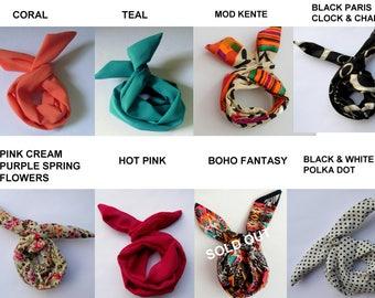 Bun Wire Wraps CHOOSE Any Two - Wired Flex Headband PonyTail Braid Ins for Hair Headband Wrap Pinup Hair UpDo Bun Wraps