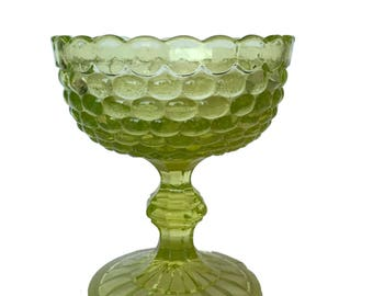 Green  Bubble Glass Candy Dish