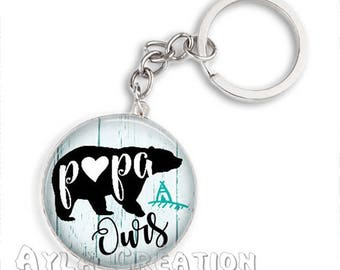 Cabochons glass 25mm #PA_CP15 dad keychain