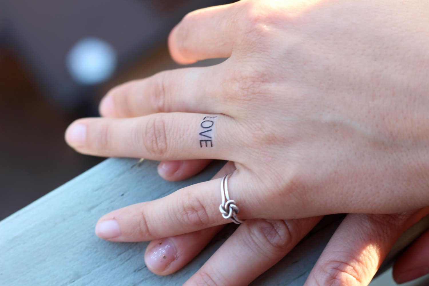 LOVE Ring Tattoo