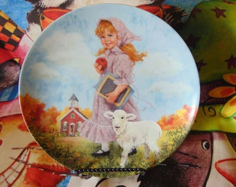 Mary Had a Little Lamb Plate / 1985 / John McClelland / Limited Edition Plate