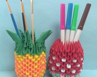3D Origami Pencil Cup