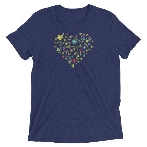 Floral Heart - Short sleeve t-shirt