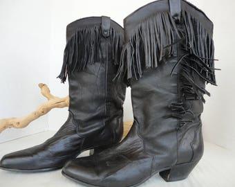 Black Textured DINGO Boots