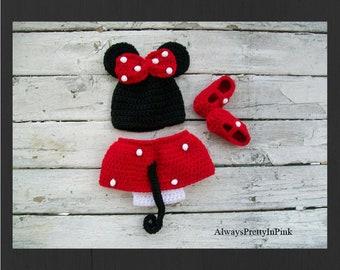 Newborn Baby Girl - Baby Gifts - Newborn Girl - Baby Girl - Minnie Mouse - Newborn Baby  - Girls Clothes - Baby Costume