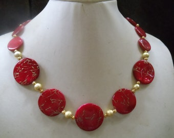 Lady in red statement Neclaces vintage