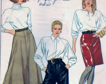 Simplicity 8869 Sewing Misses Lined Skirts Pattern Pieces ONLY - NO PANTS
