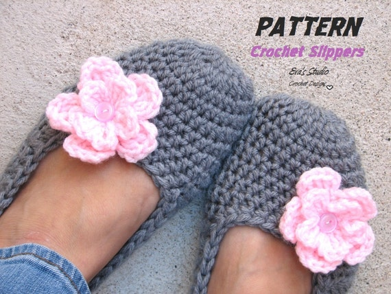 Adult Slippers Crochet Pattern Pdfeasy Great For Beginners
