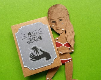 Pocket Girlfriend boyfriend gift personalized articulated paper doll funny gift custom customized present sexy celebrity portrait marionette