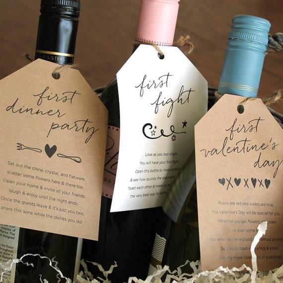 Marriage Milestone Wine Basket Tags