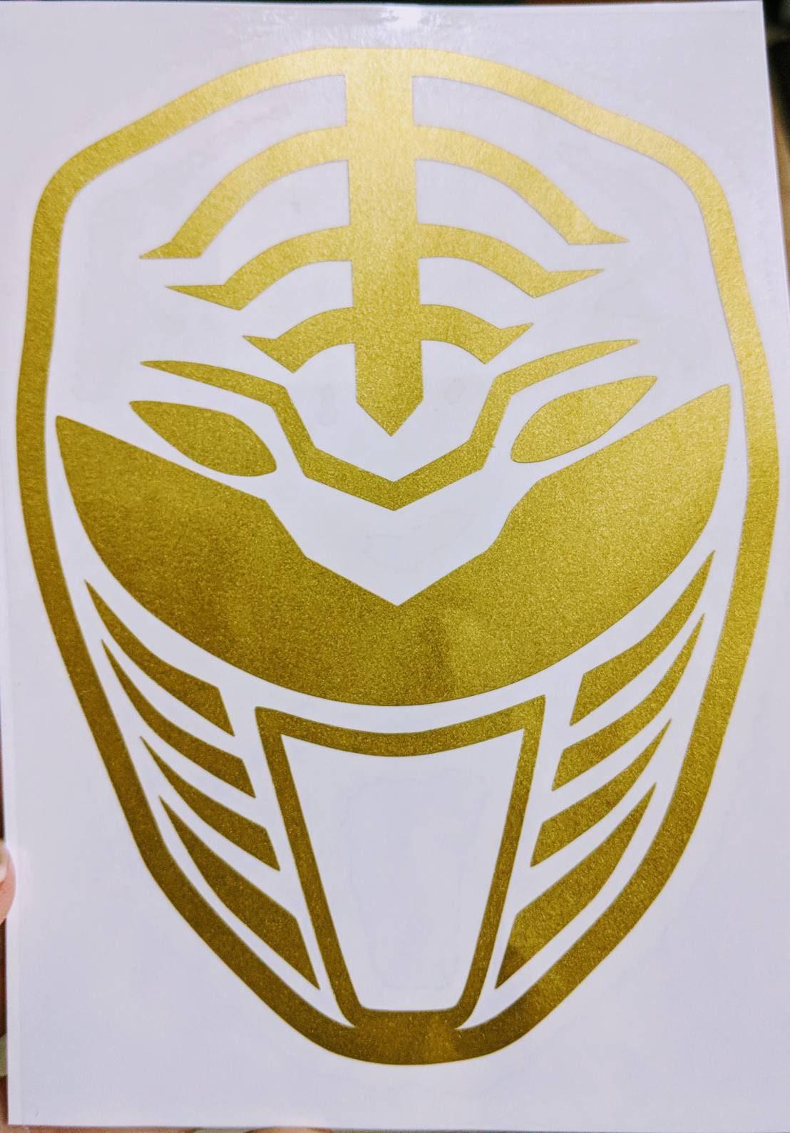 Mighty Morphin\' Power Rangers White Ranger Vinyl Decal for