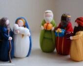 Nativity and Magi, fairy ...