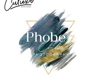 Signature Logo | Premade Logo  | Branding Kit logo | Blogger Logo | Watercolor Logo | Branding Package | abstractLogo