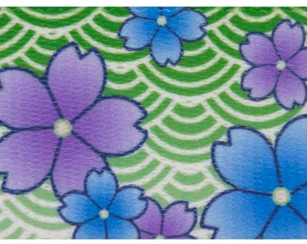 1 Inch Blue April Blossoms Polyester Webbing Martingale Collar