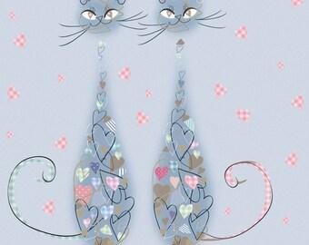 Patchwork & Quilt - Cat card