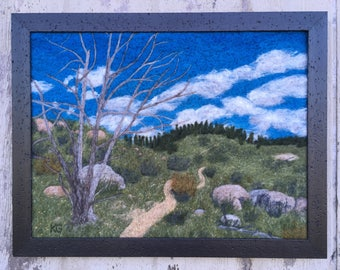Twenty Years Later - Felted wool landscape from Colorado Trail