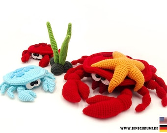 Crab crochet pattern amigurumi