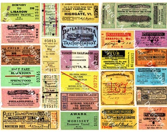 Train Ticket Stubs Railroad Ti...