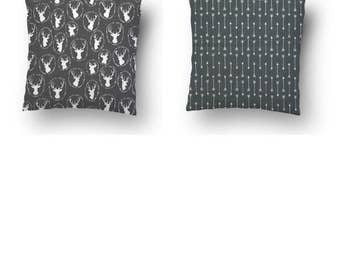Clearance - Pillowcases - Throw Pillow Covers - Gray/Grey Pillow Covers, Pillow Covers 20X20, 16 x 16, 18 x 18, 24 x24