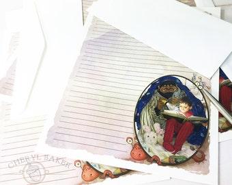 Boy Stationery Paper - Stationery Paper Set - Stationery Set - Writing Paper- Lined Paper- Stationary Paper - Nursery Paper - Woodland Paper