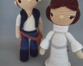 Star Wars Princess Leia and Han Solo Crochet Pattern/Amigurumi