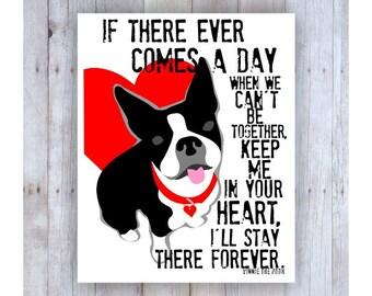 Boston Terrier Memorial Print, Boston Terrier Art, Boston Terrier Poster, Dog Memorial Art, Pet Loss, Pet Sympathy, Pet Memorial