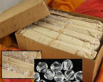 1,000 Vintage Clear Crystal Bicone Chatons - BIG BARGAIN Save 40.00 - BULK - Wholesale