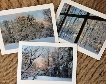 Christmas Greetings, Set of Christmas Cards, Christmas Photography Cards, Winter Scence Photography, Winter Solstice Cards, Holiday Photo