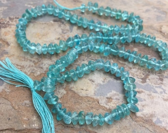 Apatite Rondelles, Apatite Beads, Aqua Apatite, 13 inch strand, 4mm