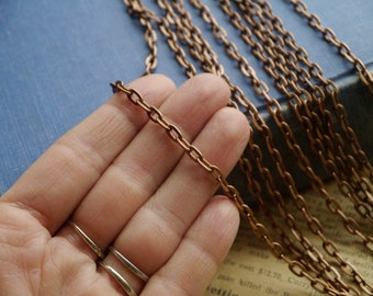 16 feet Copper Chain 7 x 4mm (CCN2880)