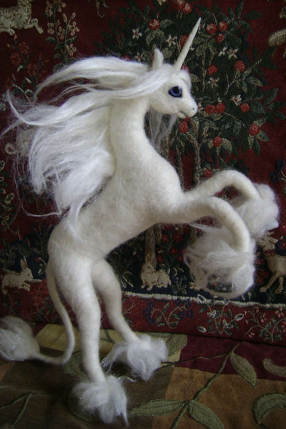 Unicorn Needle Felted Sculpture Made to Order