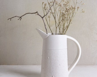 white Ceramic Vase, pottery wedding vase, pottery wedding gift, White Flower Pot, minimalist Ceramic Vase, Modern white vase, stoneware vase