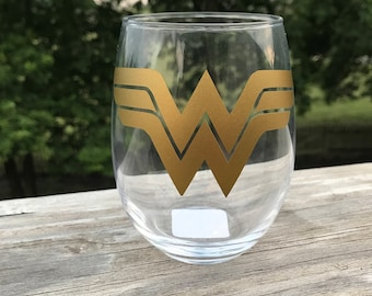 Wonder Woman Stemless Wine Glass