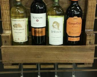 Four bottle wine rack