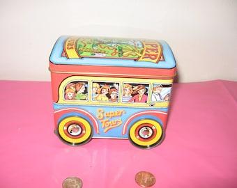 Vintage Genuine DODO Metal Box Tour Bus With Working Wheels - DODO 1983 London Rolling Tin Can Tour Bus