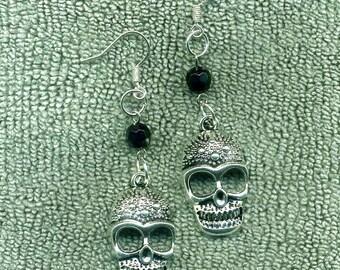 Gothic Sugar Skulls New Earrings, Handmade, Day of the Dead