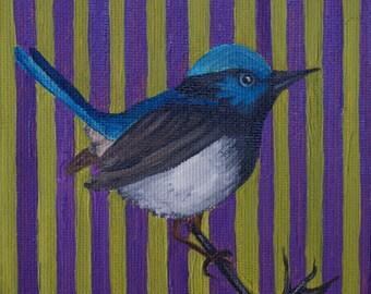 BLUE BIRD oil painting