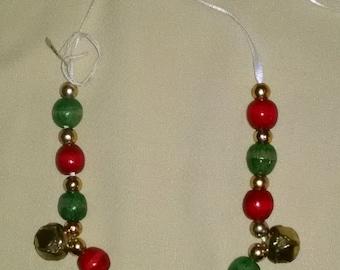 Christmas Jingle Bell Necklace and Bracelet