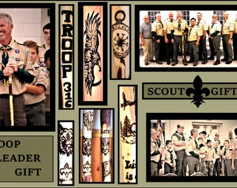 Hiking stick - scout leader gift - troop master gift - Retirement gift - hiking - hikers gift - Eagle Scout - artistic creations by rose