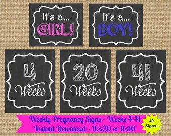 Weekly Pregnancy Chalkboard, Maternity Photo Prop, Baby Bump Sign, Pregnancy Week By Week, Pregnancy Countdown, Baby Countdown, Weekly Baby
