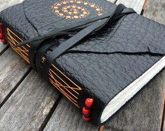 Black Leather Journal / Notebook/ Diary Made in Australia