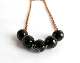 Black Agate - Swing necklace